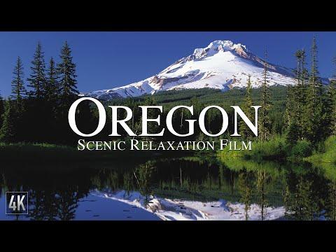 Oregon 4K Scenic Relaxation Film | Mount Hood Drone Video | Portland Oregon Aerial Footage