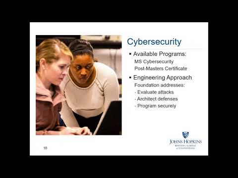 Computer Science, Cybersecurity, Information Systems Engineering Information Session: Fall 2017