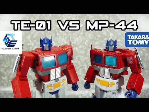 Transform Element TE-01 Op Leader VS Takara Tomy MP-44 Optimus Prime
