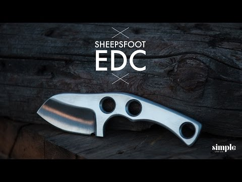 How to make a Custom Knife - Sheepsfoot EDC  - Maker Movement
