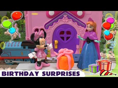 Видео, Princess Play Doh Minnie Mouse Birthday Presents Thomas And Friends Frozen Anna Belle Ariel Mermaid
