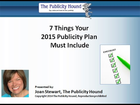 7 Things Your 2015 Publicity Plan Must Include