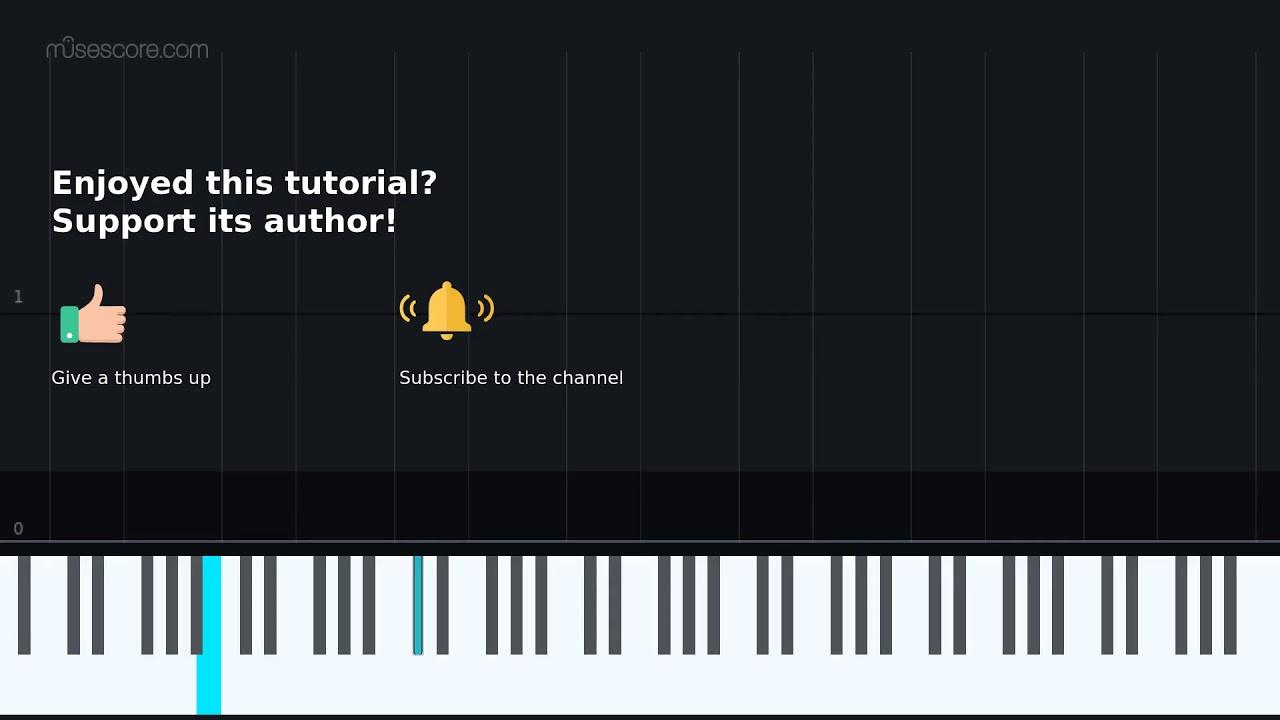 Community Theme Piano Tutorial Sheet Music Youtube