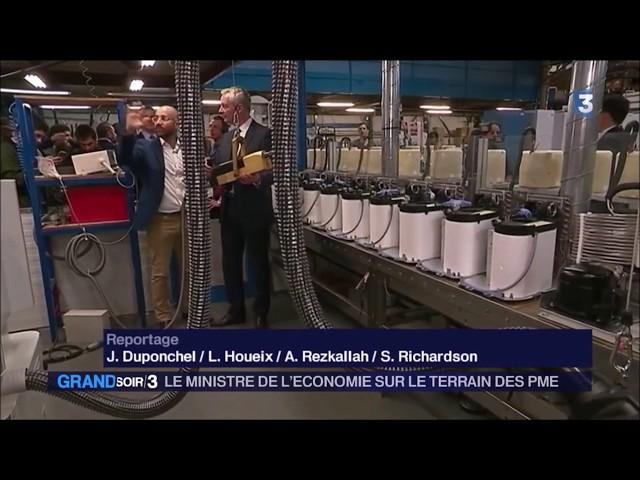 France TV Grand Soir 3 - Mistral Constructeur, première visite du Ministre de l'économie