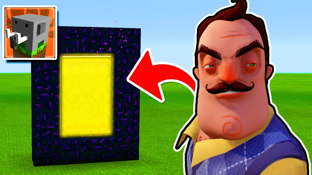 How To Make a PORTAL to the Hello Neighbor in Craftsman: Building Craft