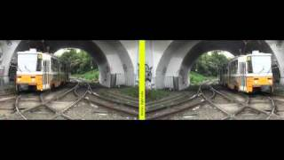 Mirror method 3D movie - Tram turning