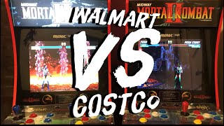 Costco Arcade 1up Mortal Kombat Cabinet VS Walmart Mortal Kombat Cabinet Initial Review!