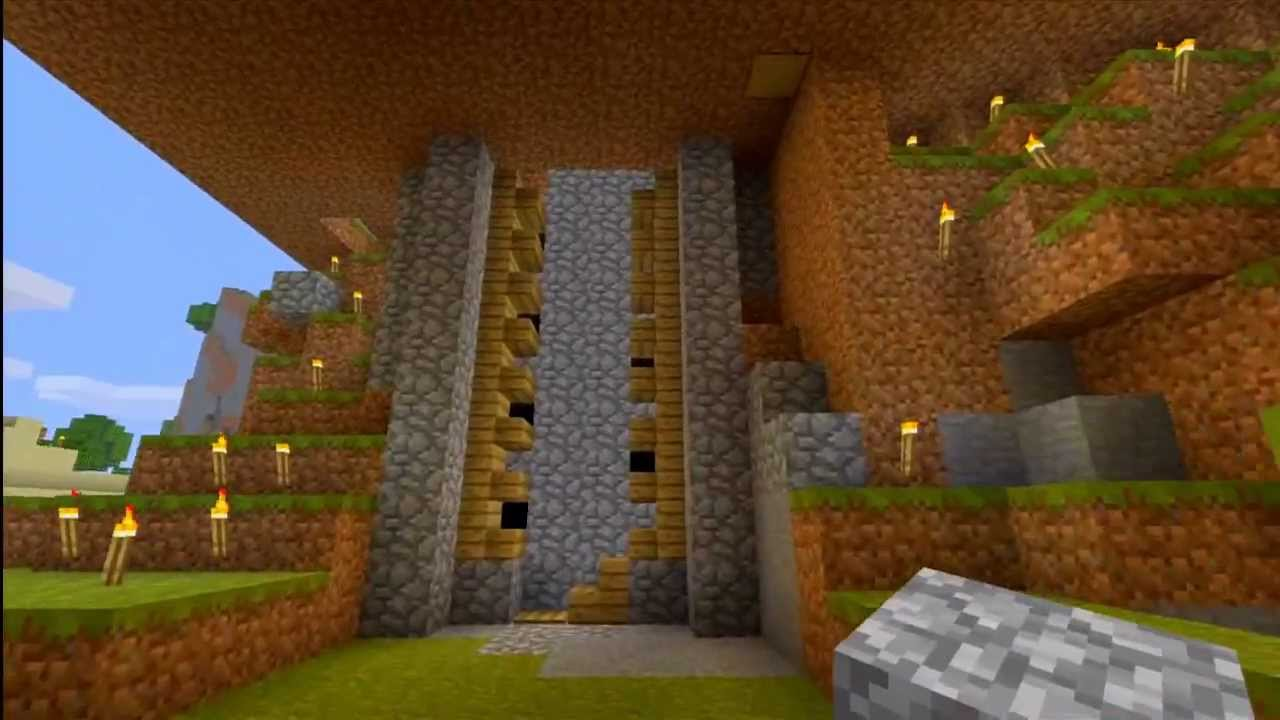 how to make a water elevator in minecraft xbox 360