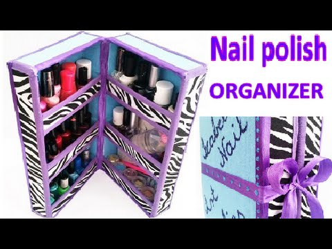 DIY Nail polish ORGANIZER out of waste