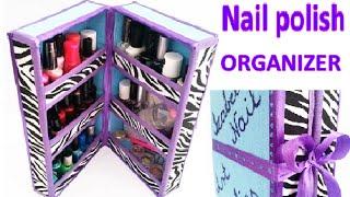DIY Nail polish ORGANIZER out of waste