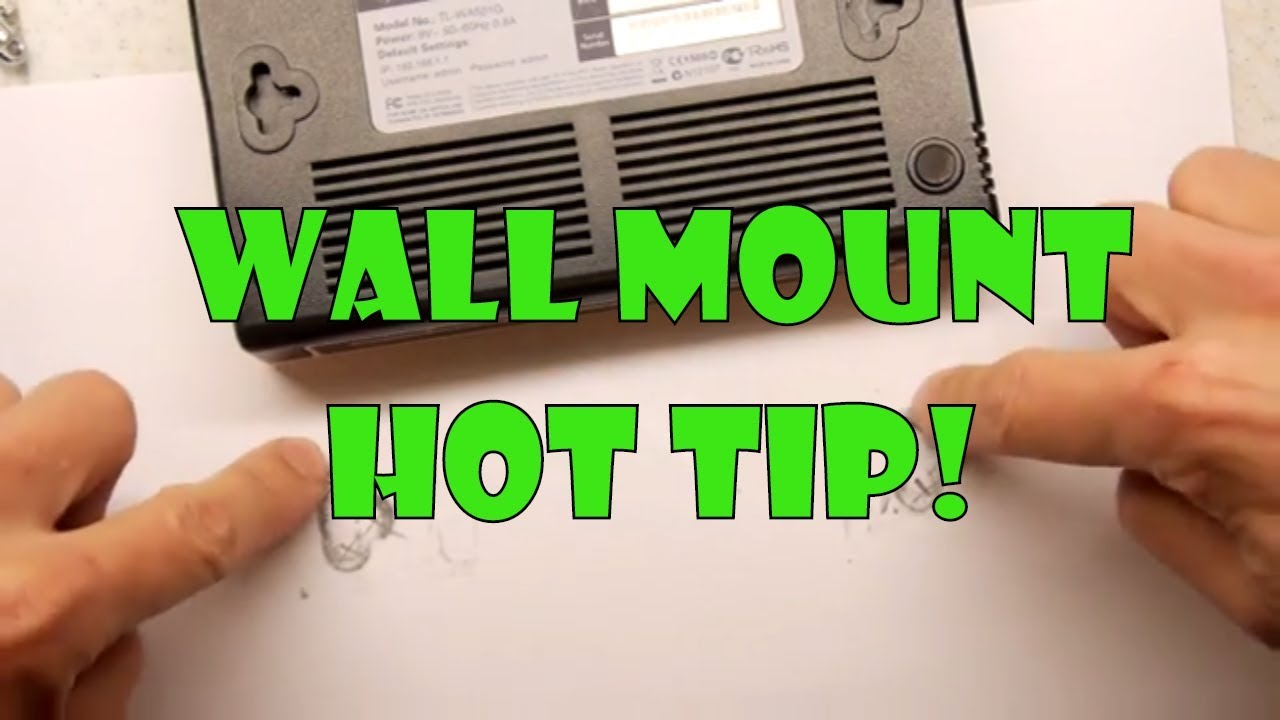 Easily Wall Mount A Power Strip Or Modem Youtube