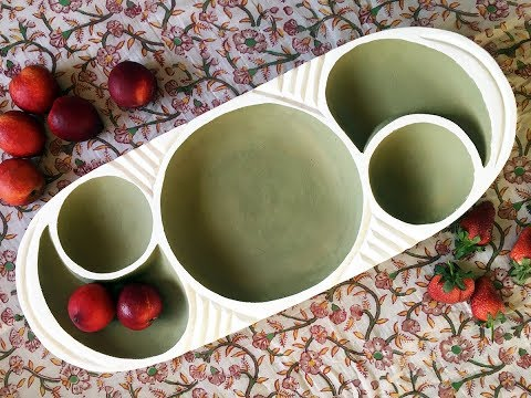 Upcycled Decor the Scandi Wood Serving Bowl Edition!