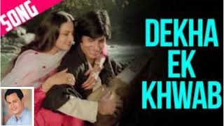 Dekha Ek khwab -  Dekha Ek Khwaab To Ye - KARAOKE FOR FEMALE SINGERS WITH NIRANJOY