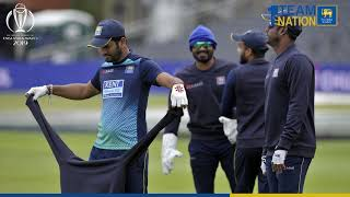 Sri Lankan team engaged in a practice session at Bristol