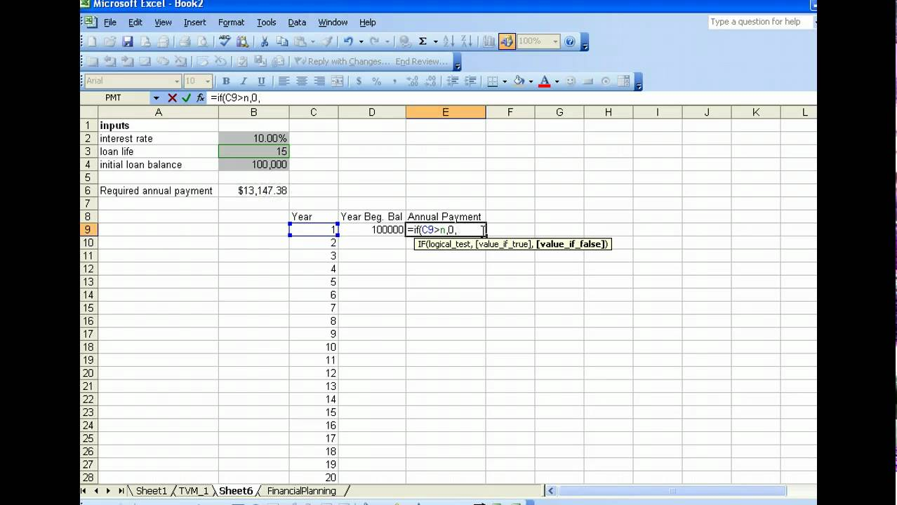 Loan Amortization Table 1 using Excel - YouTube