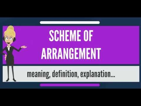 What Does SCHEME OF ARRANGEMENT Mean The Audiopedia