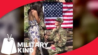 Surprise Engagement Proposal At Re-Enlistment Ceremony | Militarykind