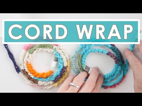 Phone Cord DIY with Knotted Wrapped Yarn | Summer Knit Series