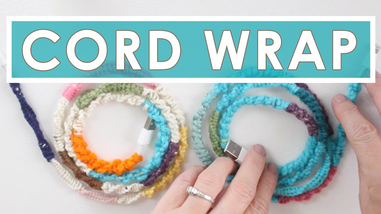 Phone Cord DIY with Knotted Wrapped Yarn | Summer Knit Series - YouTube