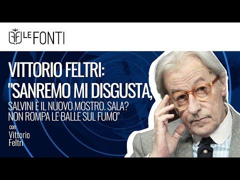 Vittorio Feltri: 'Sanremo mi disgusta, Salvini è il nuovo mostro. Sala? Non rompa le balle sul fumo'