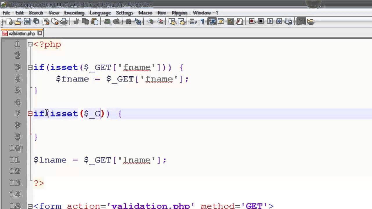 PHP Data Validation - Isset - Data Validation Part 1