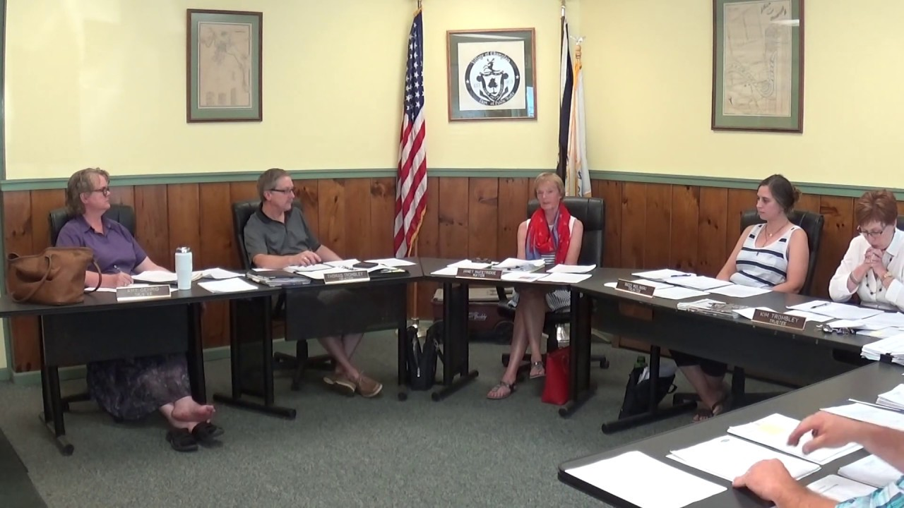 Champlain Village Board Meeting   7-8-19