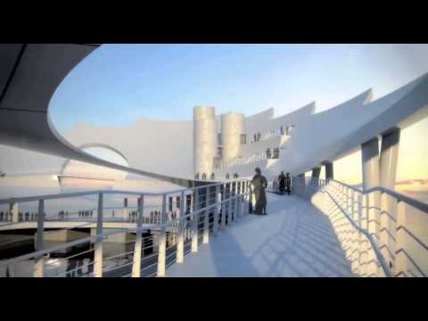 """Animated Architectural Rendering - """"The Lens"""" St. Pete Pier"""