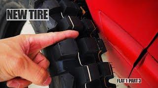 XT250 Maintenance: Changing a Tire Part 3/3 (New Tire Dunlop D606)