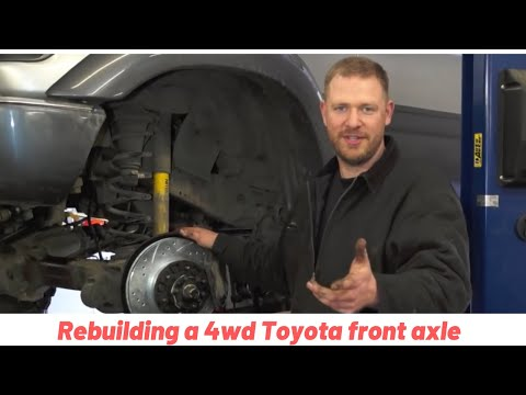 How to Rebuild your 4wd Toyota Front Axle Closed Knuckle Part 2