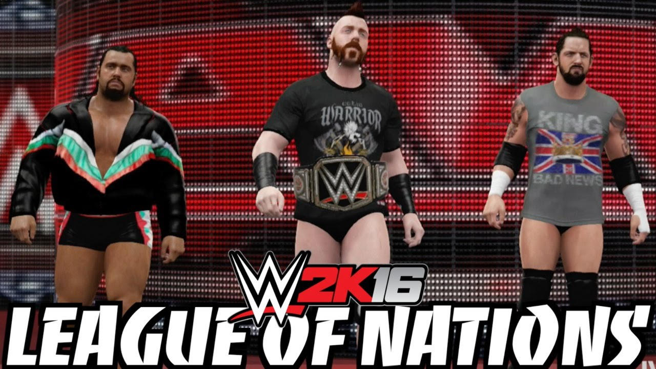 Wwe 2k16 The League Of Nations Sheamus Barrett Rusev In Updated Attires Youtube