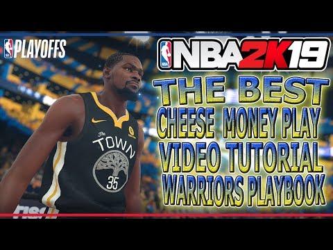 NBA2K19 MYTEAM  CHEESE MONEY PLAY WARRIORS PLAYBOOK the best playbook
