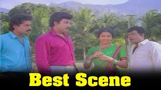 Vazhkai Chakkaram Movie : Sathyaraj, Gouthami  And Her Father Best Scene