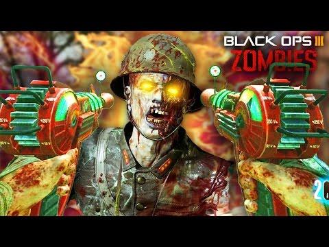 BLACK OPS 3 ZOMBIES - DUAL WIELD RAY GUNS & KATANA BOSS FIGHT! CUSTOM ZOMBIES MOD TOOLS GAMEPLAY!
