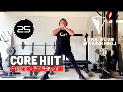 【体脂肪燃焼効果絶大!】CORE HIITリズムに合わせてお家でトレーニングしよう!