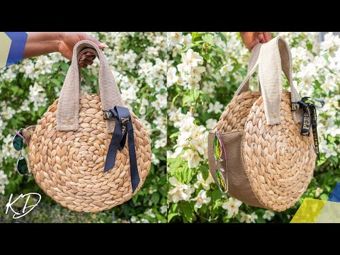 DIY WOVEN STRAW BAG TUTORIAL   KIM DAVE