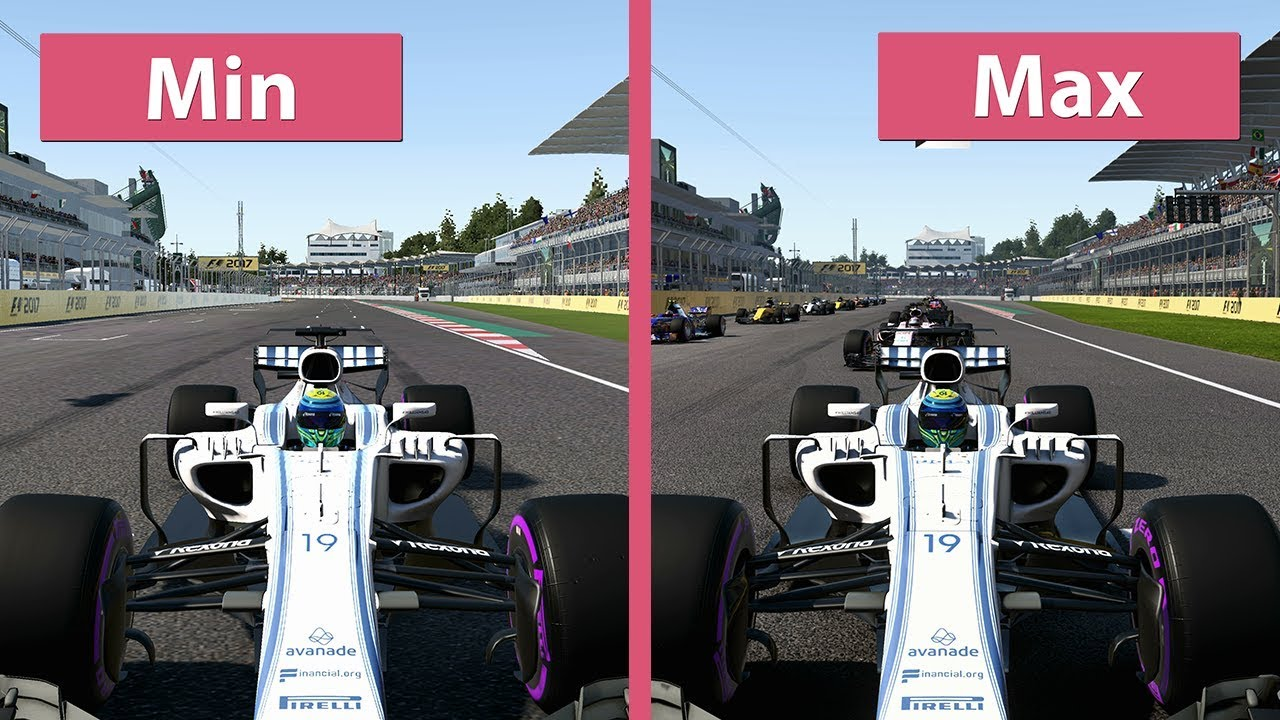 f1 2017 pc 4k min vs max graphics comparison youtube. Black Bedroom Furniture Sets. Home Design Ideas