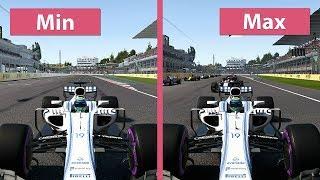 F1 2017 – PC 4K Min vs. Max Graphics Comparison