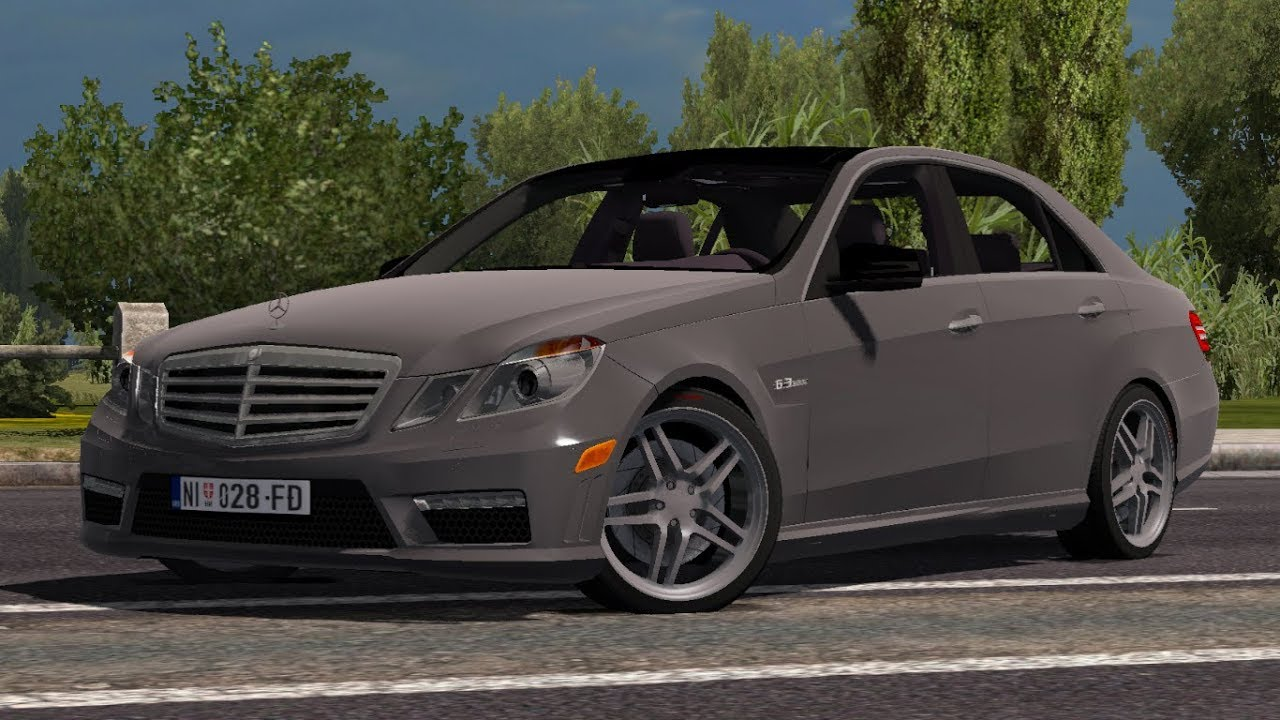 1 32 Euro Truck Simulator 2 Mercedes Benz E63 Amg Mods Youtube