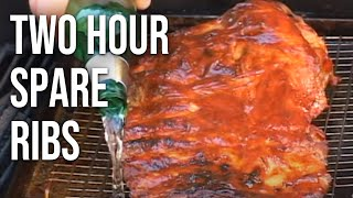 barbecue spare ribs in two hours by the bbq pit boys