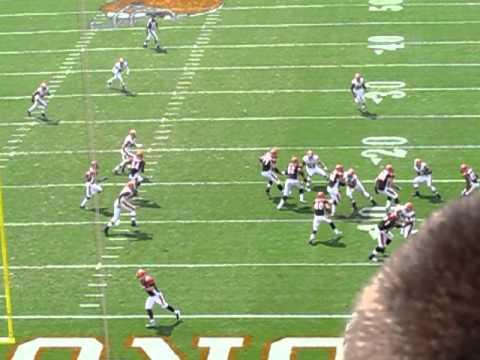 Browns Bengals 9/11/2011 Brian Leonard Run slow motion