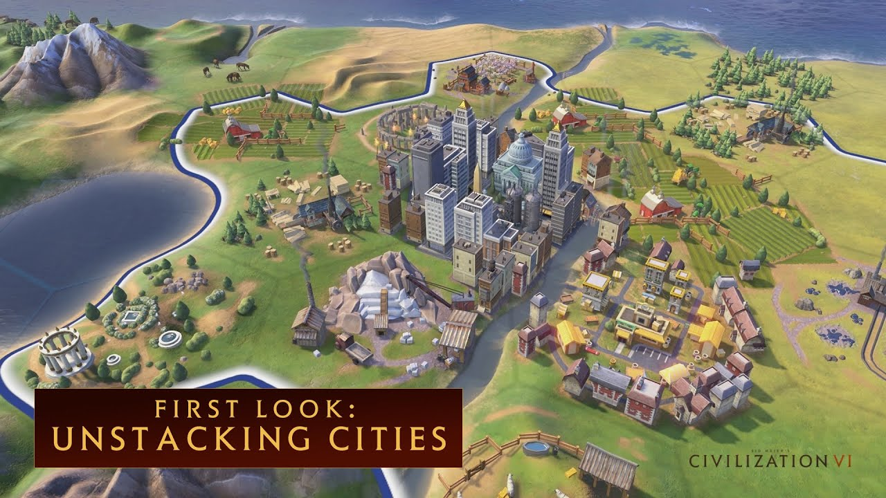 CIVILIZATION VI - First Look: Unstacking Cities - YouTube