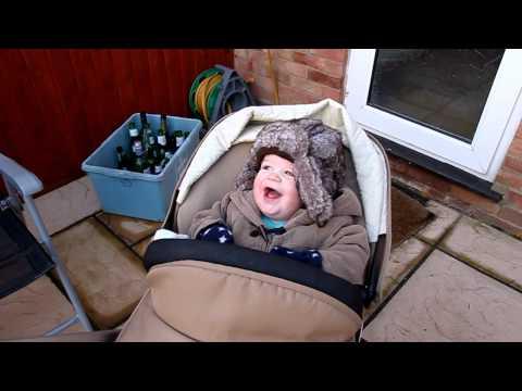 James Mansell laughing at Sam