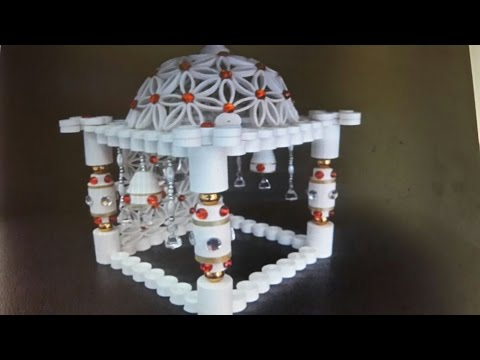 Paper quilling ganesha temple youtube for How to make paper temple