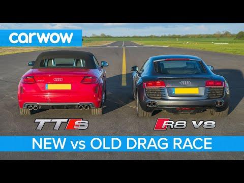 See 2008 Audi R8 V8 drag race the latest TTS Roadster