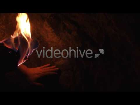 Man Discovers Ancient Mystical Signs - Stock Footage | VideoHive 4731539