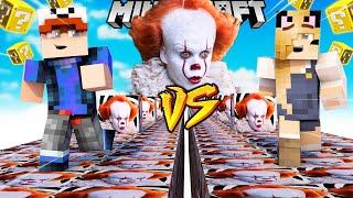 SZALONY WYŚCIG! - KLAUN LUCKY BLOCKI MINECRAFT! (Lucky Block Race) | Vito vs Bella