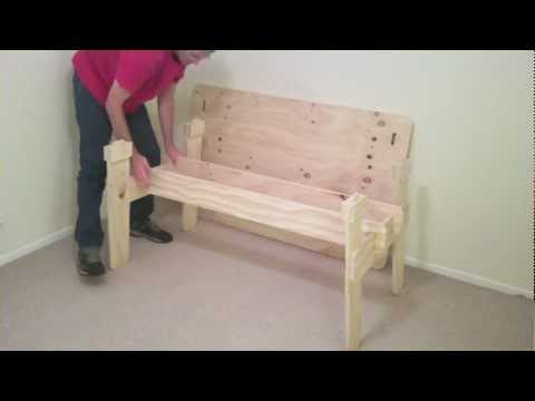 How to Make a Trestle Table - From One Sheet of Plywood.