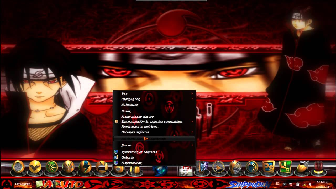 theme sharingan pc