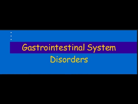 Gastrointestinal Disorders -The Pharmacotherapy Preparatory Course