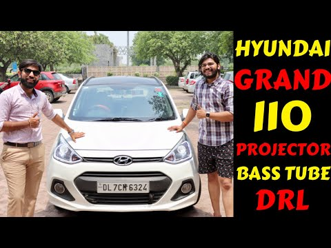 HYUNDAI GRAND I10 REVIEW | PROJECTOR INSTALLED | BASS TUBE | OVAL SPEAKERS | Rahul Singh